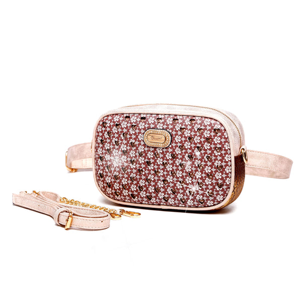 Twinkle Star Faux Leather Fanny Waist Bag Pack for Women