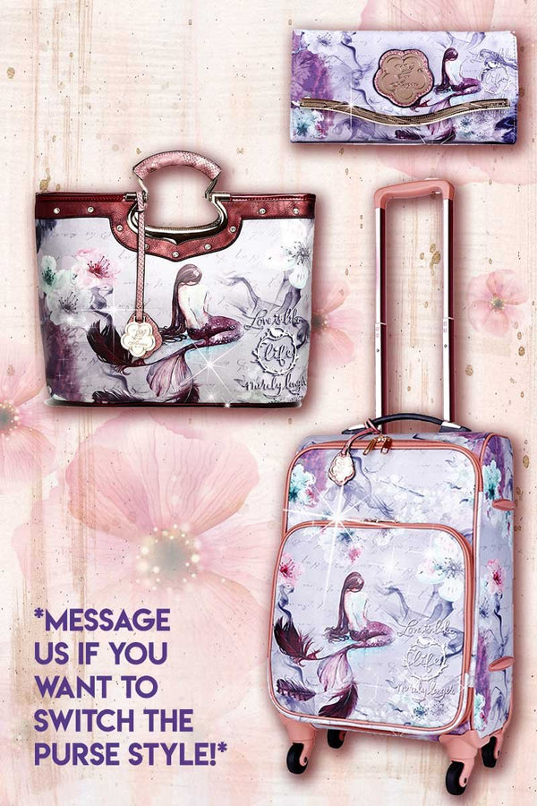 Princess Mera 3PC Set | Vintage Travel Carry on Luggage Spinner Wheels