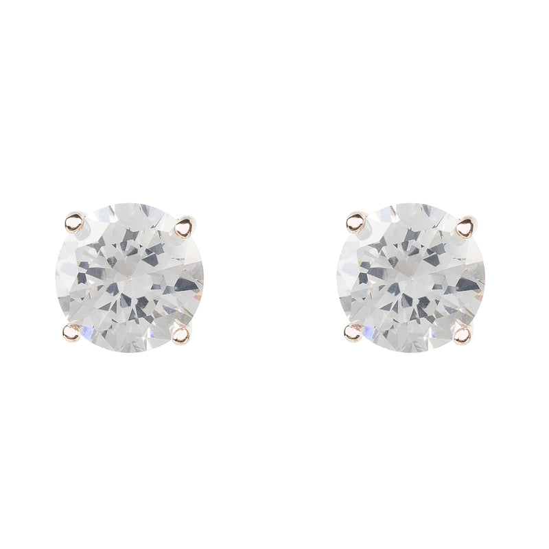 Solitaire CZ Earring rosegold