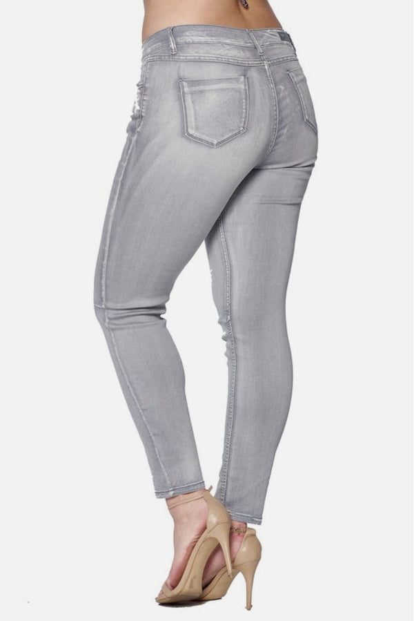 Plus Size Grey Denim Jeans