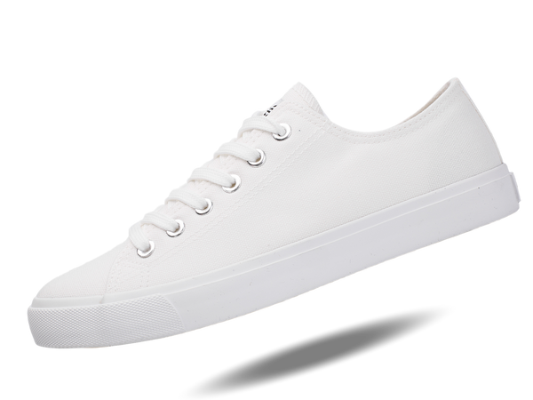 Fear0 Unisex True to the Size All White Canvas Sneakers Casual Shoes