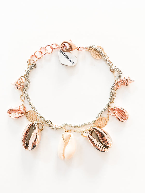 Seashells and 18kt Gold Plated Bracelet