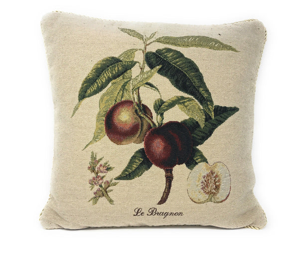 "DaDa Bedding Nectarine Fruits Elegant Accent Throw Pillow Cushion Cover - 18"" - 1-Piece"
