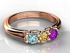 Rose Gold Mothers Ring
