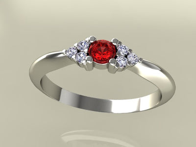 1 Birthstone Mothers Ring With .06 carats of Fine Diamonds by Christopher Michael*