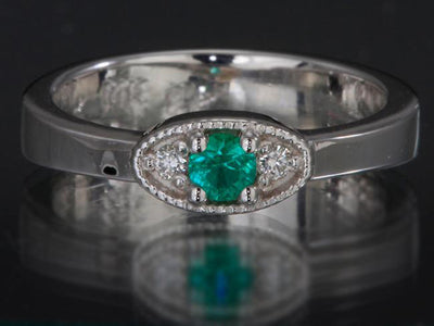 1 Birthstone Mothers Ring by Christopher Michael with Ideal Cut Diamonds*