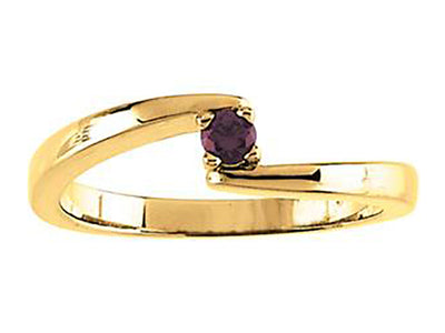 1 Stone Bypass Mothers Ring 3mm Birthstones*