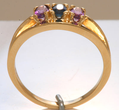 Three Stone Oval Mothers Ring*