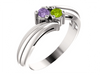 2 Birthstone Fluted Bypass Shank Mothers Ring*