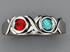 2 Stone Bezeled Hugs and Kisses Mothers Ring*