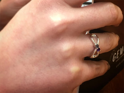 2 Stone Infinity Mothers Ring*