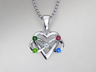 5 Stone Infinity Mother's Pendant* Christopher Michael Design