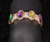 Striking Christopher Michael Four  Stone Oval Mothers Ring with Diamonds*