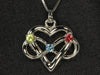 3 Stone Infinity Mother's Pendant Christopher Michael Design - mothers family rings