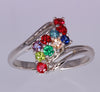 Sterling Silver Ten Birthstone Mothers Ring*