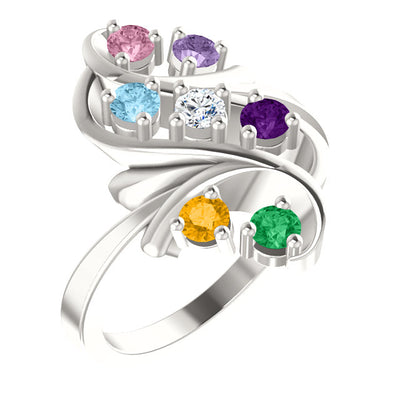 Bold 7 Birthstone Mothers Ring*