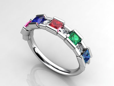 Princess Mothers Ring by Christopher Michael with Diamond Accent*