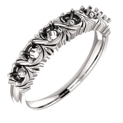 Uniquely detailed 6 stone mothers ring*