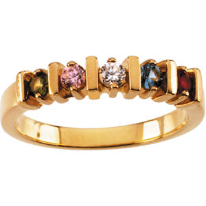 Five Stone Bar Mothers Ring*