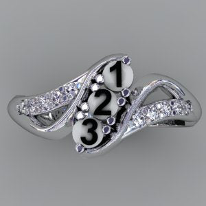 Christopher Michael Designed Twist Mothers Ring With Ideal Cut Diamonds*