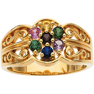 Seven Birthstone Mothers Ring*