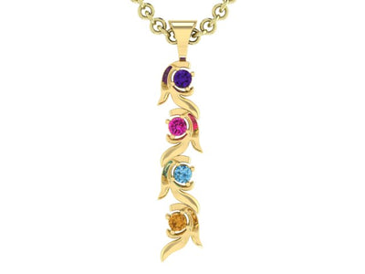 Christopher Michael Vine of Life Journey Pendant with 4 Natural Gemstones*