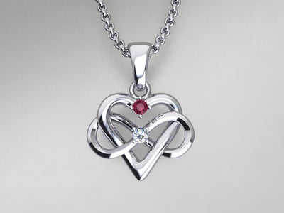 2 Stone Infinity Mother's Pendant* Christopher Michael Design