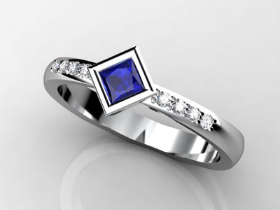 1 Birthstone Twisted Princess Mothers Ring by Christopher Michael*