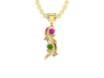 Christopher Michael Vine of Life Pendant with 2 Diamonds*