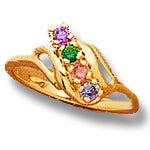 4 Stone Mothers Ring with Fine Natural Gems*