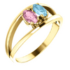Two Stone Oval Mothers Ring*
