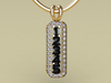 5 Birthstone Mothers Pendant with Diamonds Around by Christopher Michael*