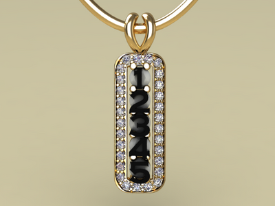 5 Birthstone Mothers Pendant with Diamonds Around by Christopher Michael* - MothersFamilyRings.com