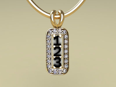 3 Birthstone Mothers Pendant with Diamonds Around by Christopher Michael*