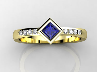 Diagonal Princess Mothers Ring by Christopher Michael*