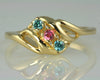 3 Stone Mothers Ring with Fine Natural Gems*