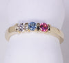 Channel Set Sisters/ Mothers Ring with Larger Birthstones*