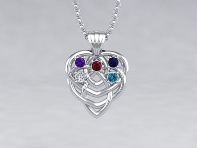 Celtic Mothers Birthstone Pendant 5 Stone* Christopher Michael Design