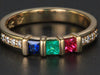 mothers family rings Christopher Michael Designed Three Birthstone Mothers Ring