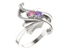 Floral 2 Birthstone Mothers Ring*