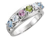 Six Birthstone Split Shank Mothers Ring*