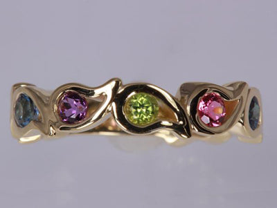 Unique Eight Birthstone Mothers Ring By Christopher Michael - mothers family rings
