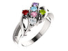 Wave Mothers Ring with Six Fine Natural Birthstones*