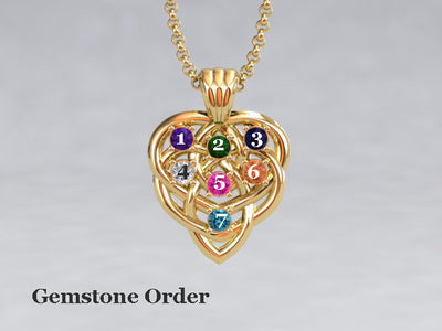 Celtic Mothers Birthstone Pendant 7 Stone* Christopher Michael Design
