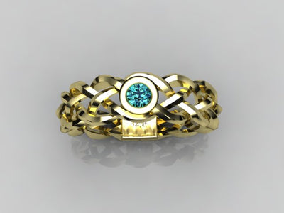 Custom Designed by Christopher Michael Mothers Ring With One Bezeled 3mm Birthstones*