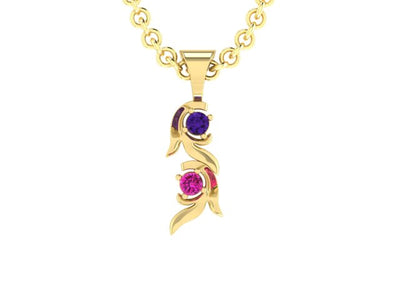 Christopher Michael Vine of Life Journey Pendant with 2 Gemstone*