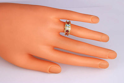 4 Stone Oval Silver Mothers Ring*