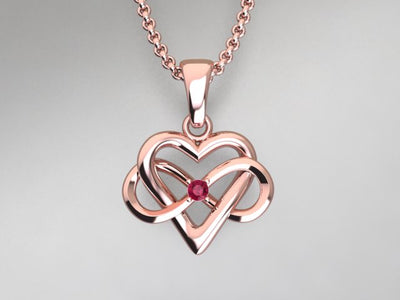 1 Stone Infinity Mother's Pendant* Christopher Michael Design