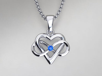 1 Stone Infinity Mother's Pendant*