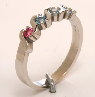 5 Stone S bar Mothers Ring*